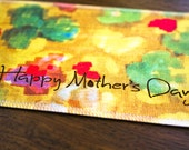 Mother's Day Greeting Card - Handmade from Upcycled Silk Fabric (Bouquet of Sunshine)