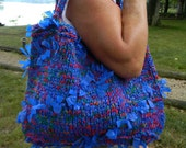 Knitted Bag Electric Blue