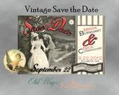 Vintage Save the Date Card Postcard Unique Antique Victorian Style - Custom DIY Printable 4x6 Digital JPEG and PDF Files