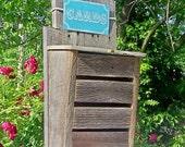 Rustic Wedding Card Box - Wish Card Box - Large - Farm or Country Wedding - Reclaimed Barn Wood