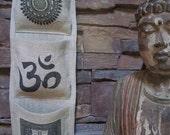 OM /Hindu Art Burlap Wall Pocket/LISA