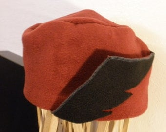 Winter Wing -- Red OSFA Hat with Winged Ear Flaps