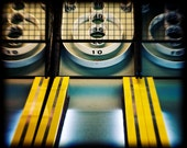 Skeeball Arcade Game Photography, Yellow and Black, Retro Style Decor, Game Room Art, Fun Boardwalk Gameroom Art Print - Skeeball Print