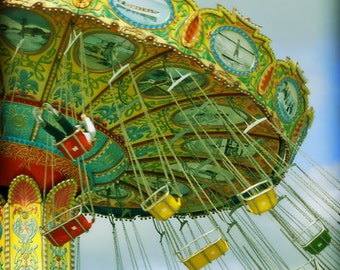 Carnival Photography, Carnival Ride, Boardwalk Photography, Carnival Nursery Art, Santa Cruz Boardwalk - Sky High