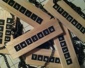 wooden name plate mugshot necklace