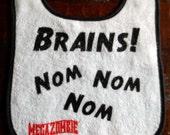Brains - Nom Nom Nom Baby Bib