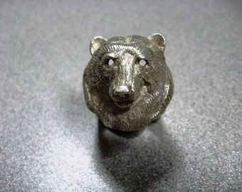 Bear Ring Silver Grizzly