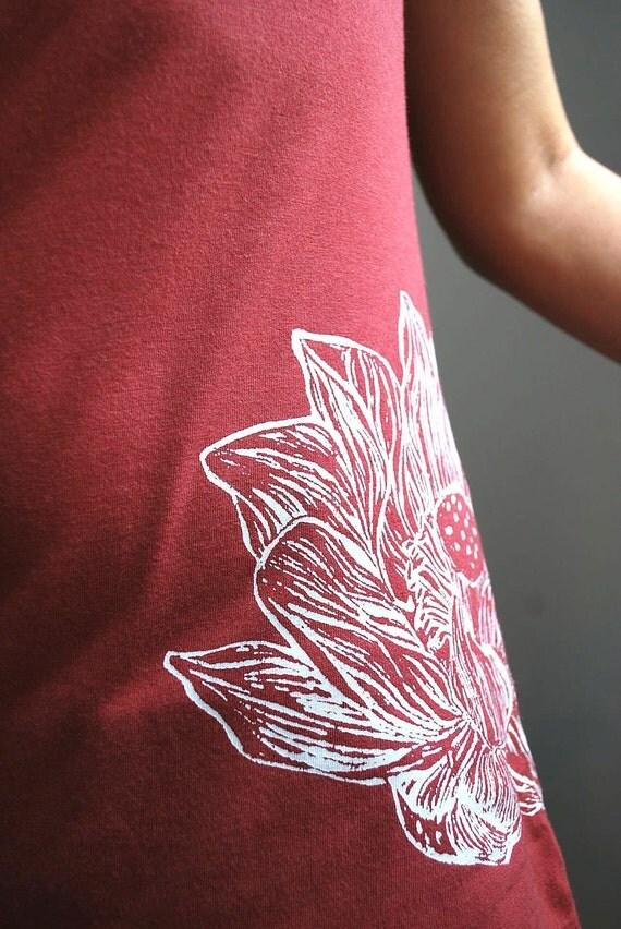 Lotus tshirt, Organic Cotton & Bamboo, Size Small