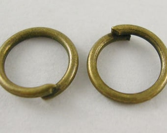 s00166 - 10 grams approx 66 Jumprings, JumpRings, Close but Unsoldered, Brass, Antique Bronze, about 10mm in diameter, 1mm thick