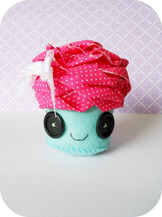 RESERVED FOR THERESA D-Ava the Handmade Cupcake Plush