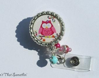 Britely Colored Hootowl Retractable Badge Reel - Owl Badge Reels - Designer ID Pulls - Unique Badge Clips - Fun Badge Holders - ID Reel Gift