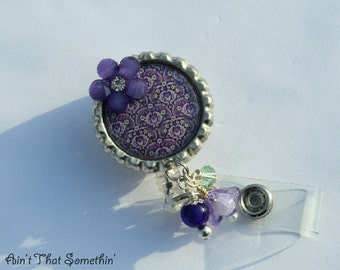 Purple Passion Retractable Badge Reel