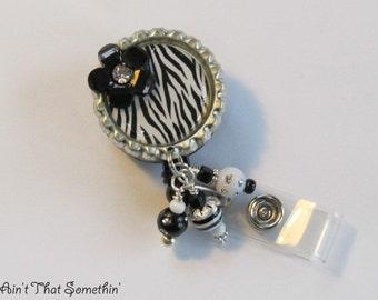 Zebra Retractable Badge Reel