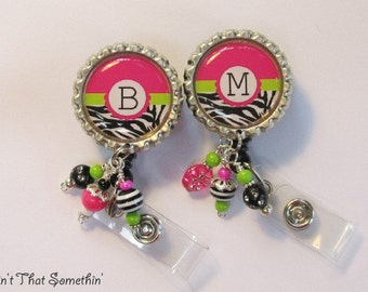 Personalized Brites Retractable Badge Reel - Monogramed Badge Clips - Badge Reel Gifts - Personalized ID Holders - Chic Badge Pulls