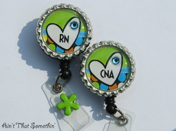 Medical Brite Green Retractable Badge Reel - RN Badge Reel - CNA Badge Clip - Nurse Badge Holders - Hospital ID Pulls - Cute Badge Reel