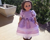 Lavender Satin Dress for American Girl, Madame Alexander or Similar 18 inch Dolls - Free Shipping Within the U.S.