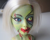 Zombie Barbie mini bust