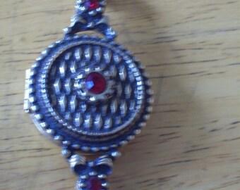 Vintage vignette pendant, Poison pendant..