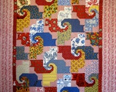 "Cat's Game quilt pattern 72"" x 88"""