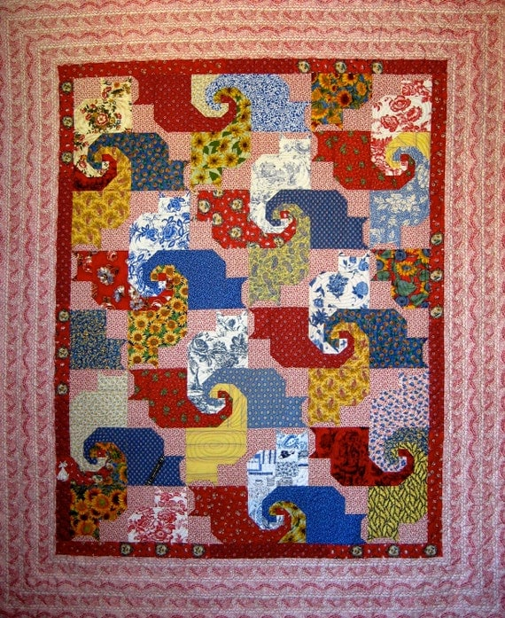 Cat's Game quilt pattern 72 x 88
