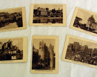 Vintage French Advertising Cards and Postcards - Set of 9