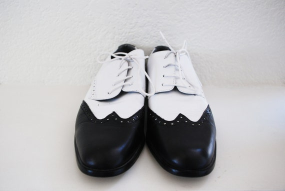 Glacee Black and White Oxford Jazz Shoes 10AA