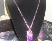 Wire Wrapped Purple Agate Necklace SALE was 20.00 now 5.00