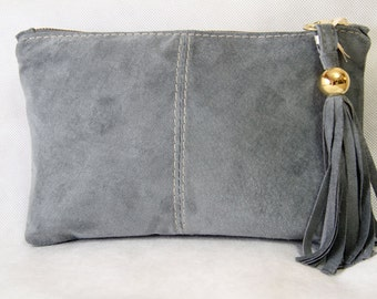 Gray Suede Clutch art.S22R74
