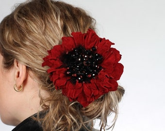 Vinous Suede Flower Scrunchie art.3V4R21