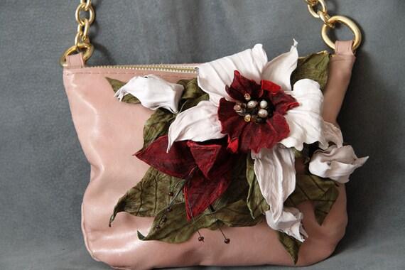 Cross Body Leather Blossom Purse art.S21R44