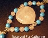 Reserved for Catherine - Heart Eye Bracelet