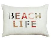 Vintage Linen BEACH LIFE Cushion