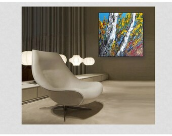 Landscape Acrylic  Original Painting on Canvas Ready to Hang - Lana Moes art - Home and Living - wall decor