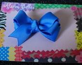 Capri Blue Double Hair Bow