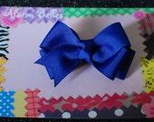 Royal Blue Double Hair Bow