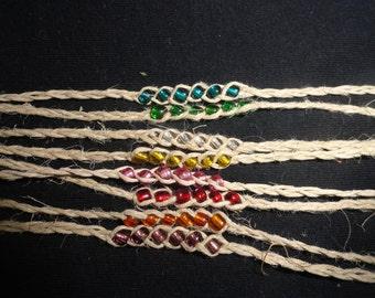 Handmade Hemp wish bracelet