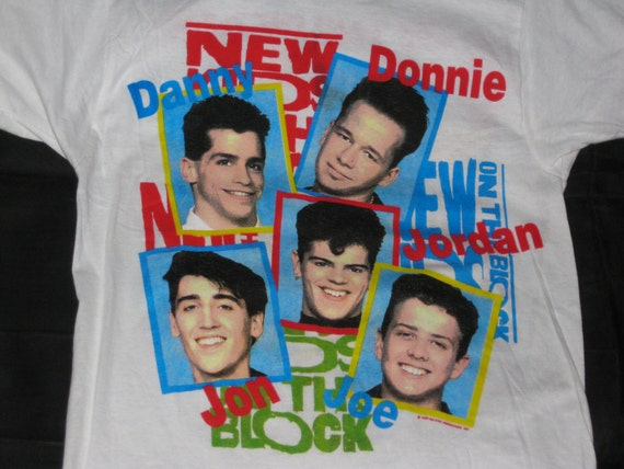 Reserved - Rare Vintage 1989 New Kids on the Block Screen Stars Graphic Concert T Shirt