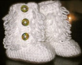 Newborn - 6mos Crochet 'UGG' Style Boots