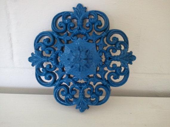 Blue Scroll Wall Decor