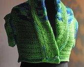 2 in1 blue and lime vest sweater