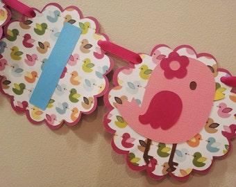 I am One, First Birthday Birdie Banner