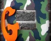 Camouflage Print Customized Personalized Initial Picture Frame
