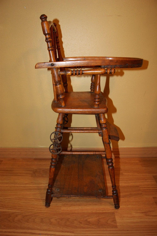 Sale Antique Doll High Chair Convertible