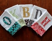 Custom Dish Towel Set, You Select the Fabric and Color