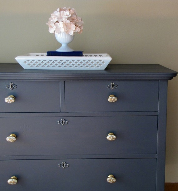Dark Grey Painted Dresser