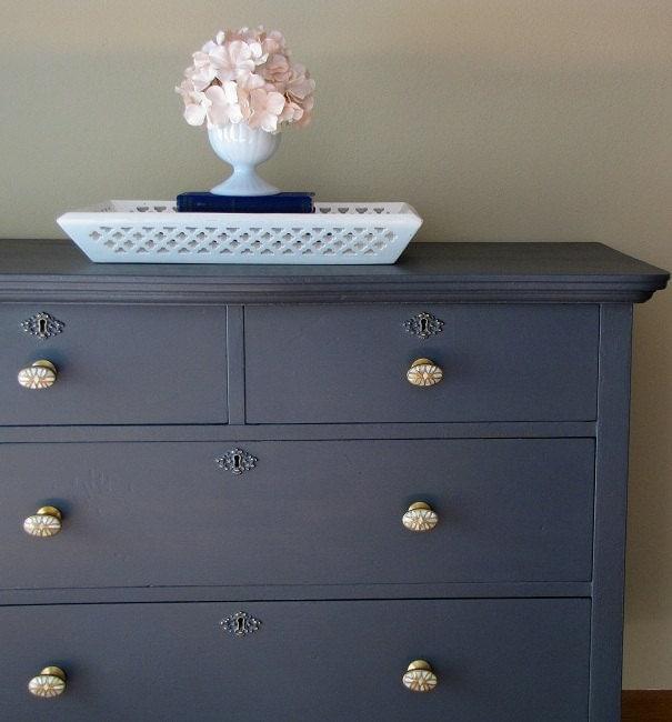 Dark Grey Painted Dresser