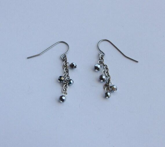 Gorgeous Gunmetal Dangle Earrings