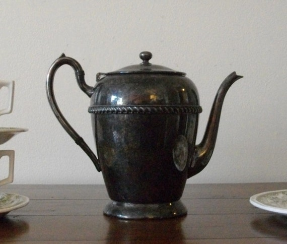 Vintage Silverplate Teapot Academy Silver on Copper