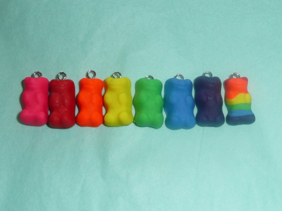Gummy Bear Polymer Clay Pendant