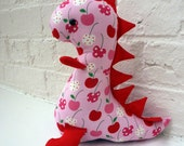 Pink and Red Cherry Dinosaur Soft Toy